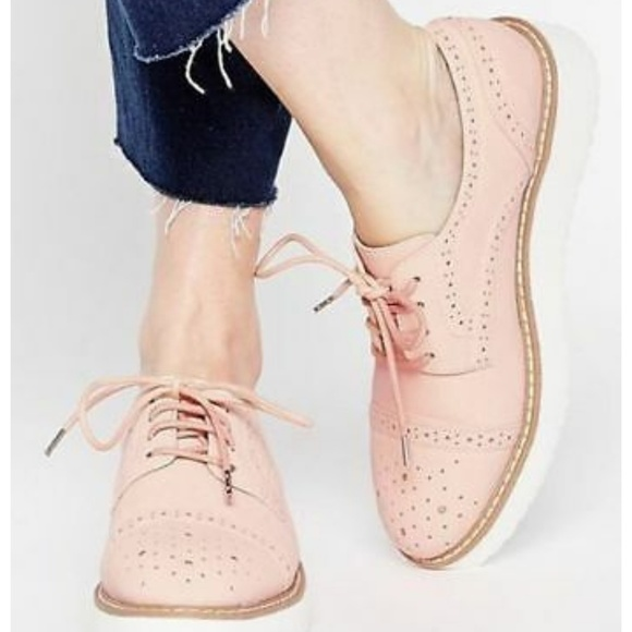 c048860c1d Tod's Shoes | Tods Pink Platform Wingtip Oxford 695 | Poshmark